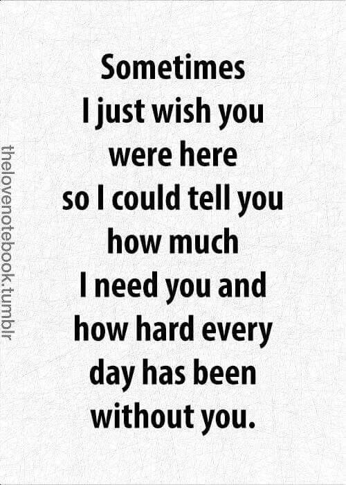I miss you for him