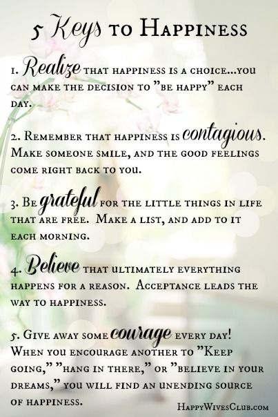 Love Quotes : 5 Keys to Happiness by Blue Mountain - Happy ...